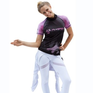 Flyspot woman's Rashguard<br>short sleeve